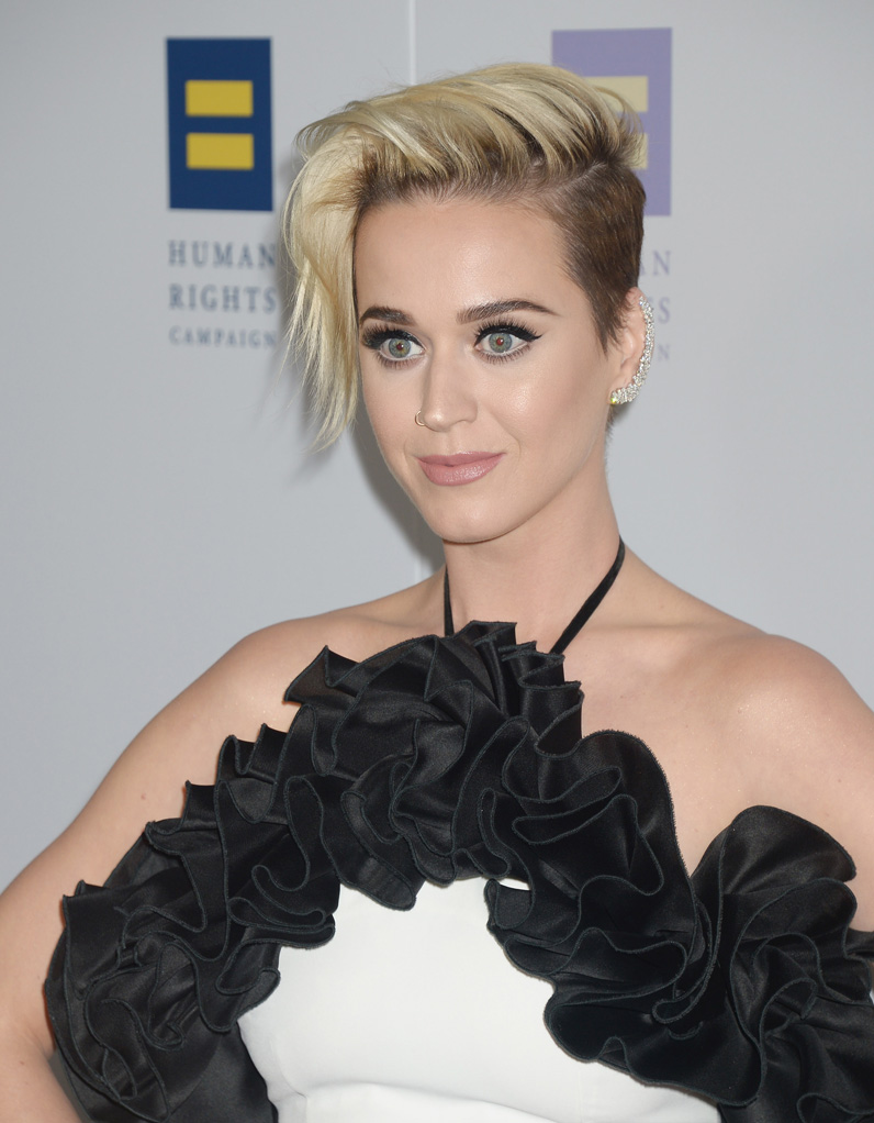 la r cente coupe courte de katy perry ces stars qui ont opt pour les cheveux courts elle. Black Bedroom Furniture Sets. Home Design Ideas