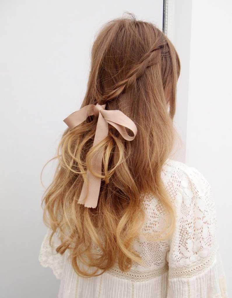 Coiffure cheveux fins ruban - 30 coiffures pour les cheveux fins ...
