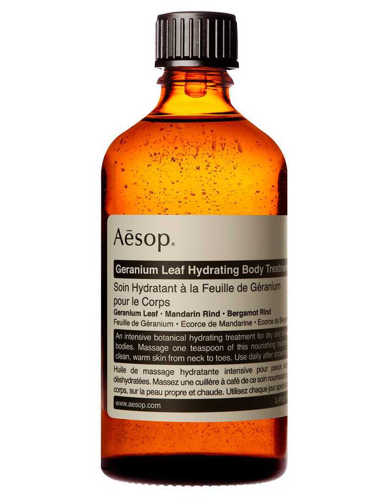 huile de massage hydratante la feuille de g ranium pour le corps aesop 29 100 ml 15. Black Bedroom Furniture Sets. Home Design Ideas