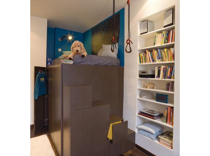 Chambres d 39 enfants misez sur la couleur elle d coration - Astuce rangement chambre enfant ...