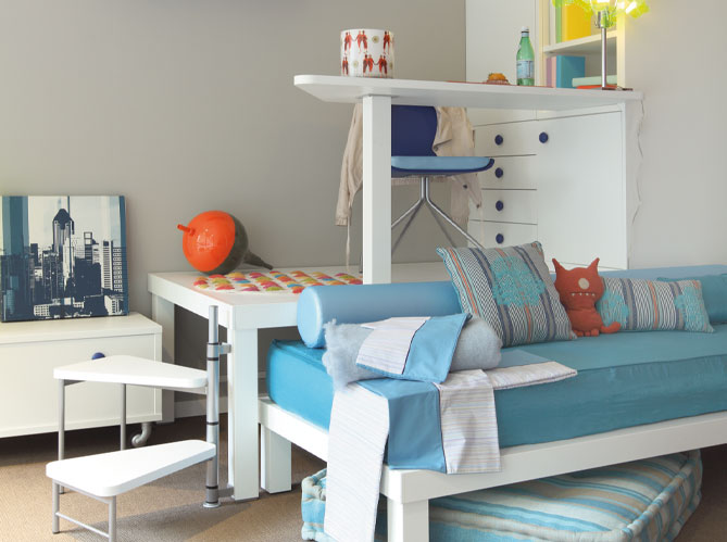 Chambres d 39 enfants misez sur la couleur elle d coration for Petite chambre d enfant