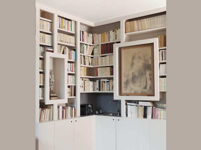 Envie d une biblioth que sur mesure elle d coration - Bibliotheque sur mesure prix ...