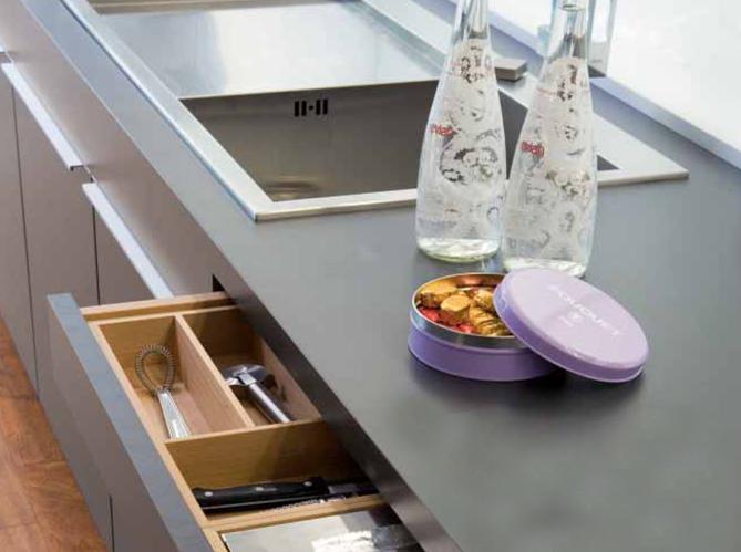 Plans de travail le bal des mati res elle d coration Peinture a base de resine pour meuble de cuisine