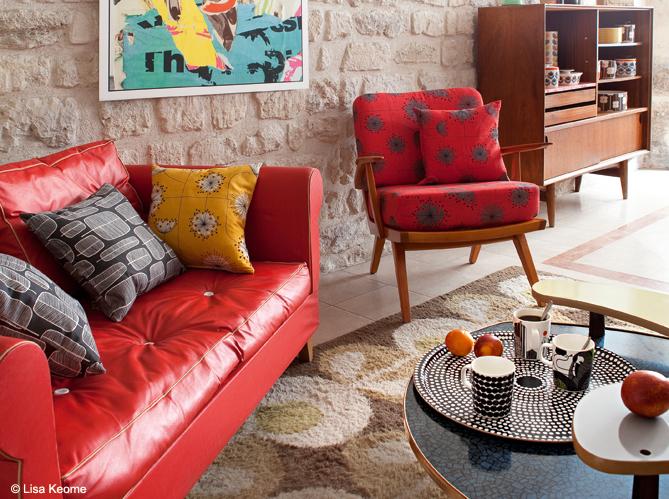 Un salon style ann es 50 c 39 est top tendance elle for Canape style annee 50