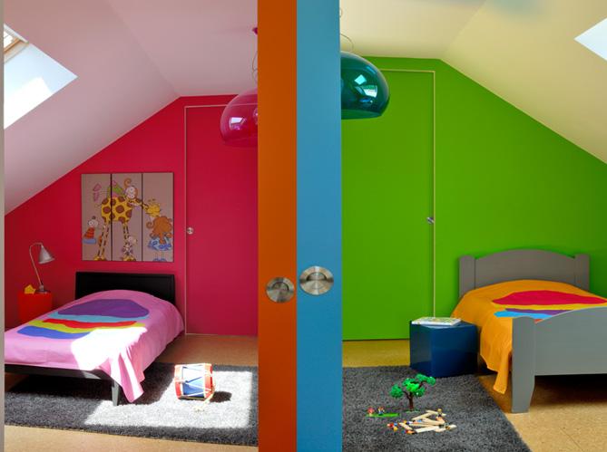 une maison colo tr s moderne elle d coration. Black Bedroom Furniture Sets. Home Design Ideas