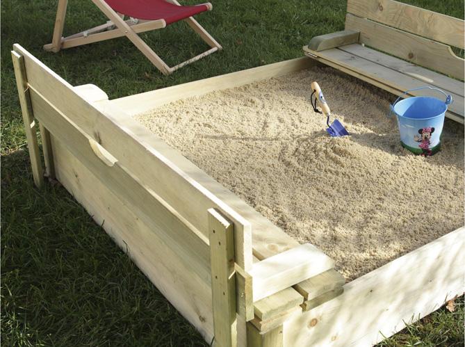 Enfants jeux de jardin pour s 39 amuser elle d coration - Castorama bac a sable ...