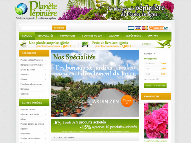 La plus grande p pini re de france ouvre sa boutique en for Site de jardinerie en ligne