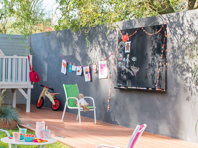 youhou un coin jardin r serv aux enfants elle d coration. Black Bedroom Furniture Sets. Home Design Ideas
