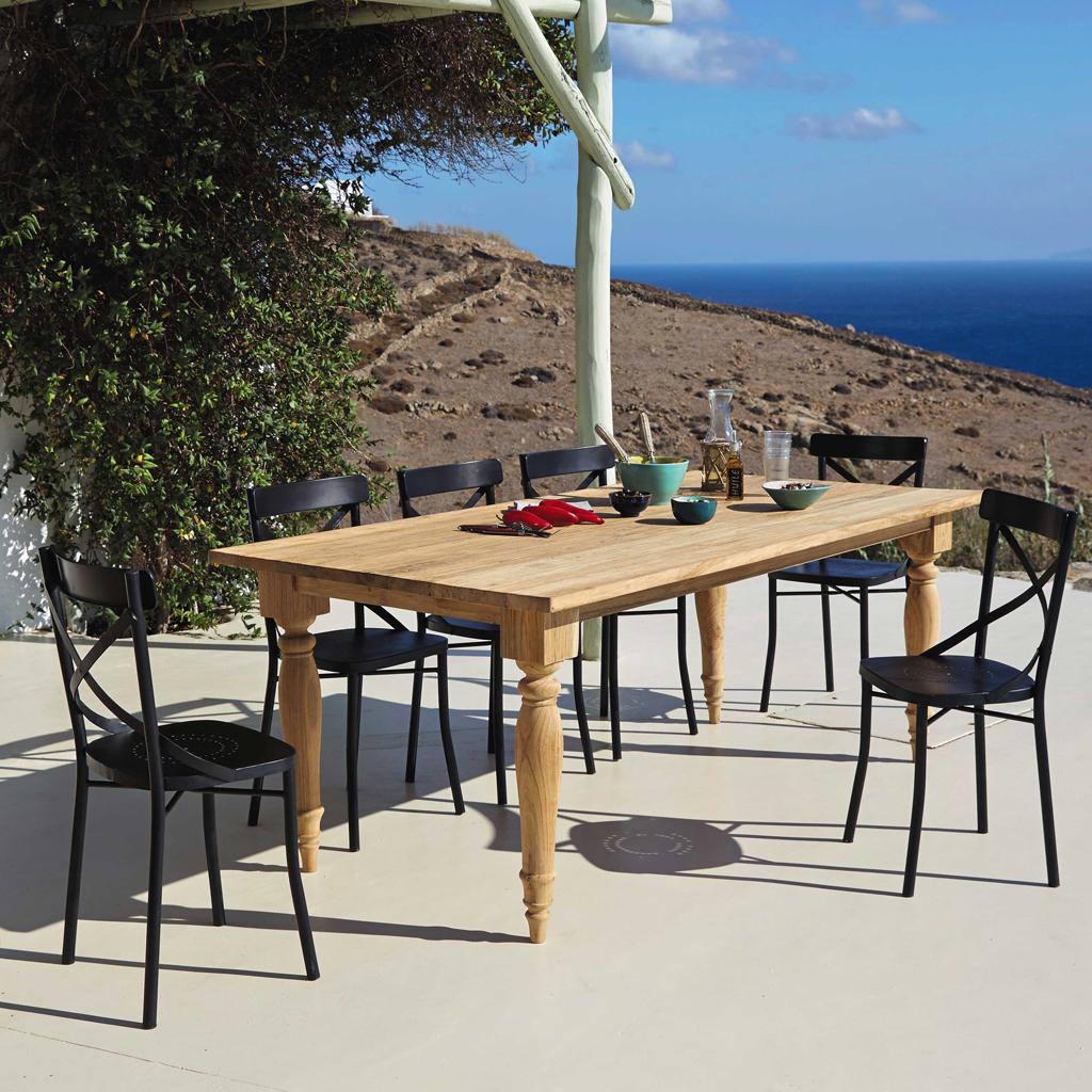 une table de jardin pour toute ma tribu elle d coration. Black Bedroom Furniture Sets. Home Design Ideas