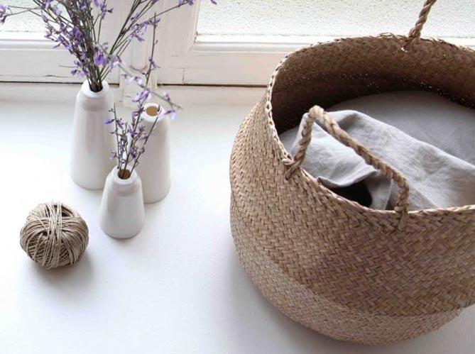 le on de d co 5 fa ons d 39 utiliser le panier dans son int rieur elle d coration. Black Bedroom Furniture Sets. Home Design Ideas