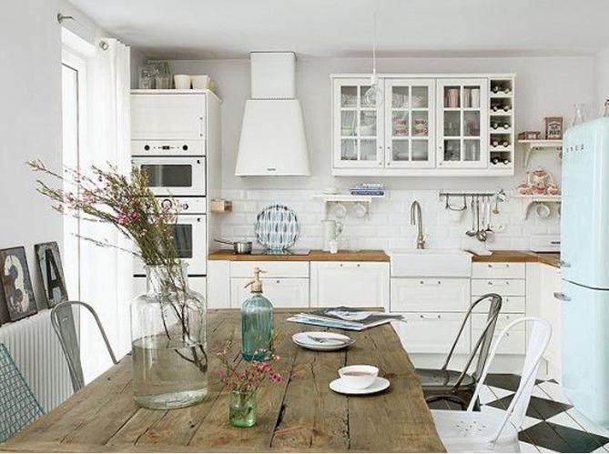 Grande tendance d co le blanc du sol au plafond elle d coration - Pinterest cuisine deco ...