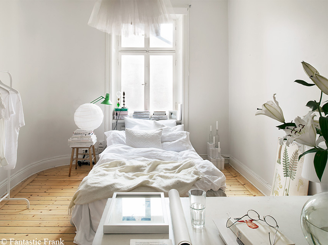 Grande tendance d co le blanc du sol au plafond elle for Decoration chambre epuree