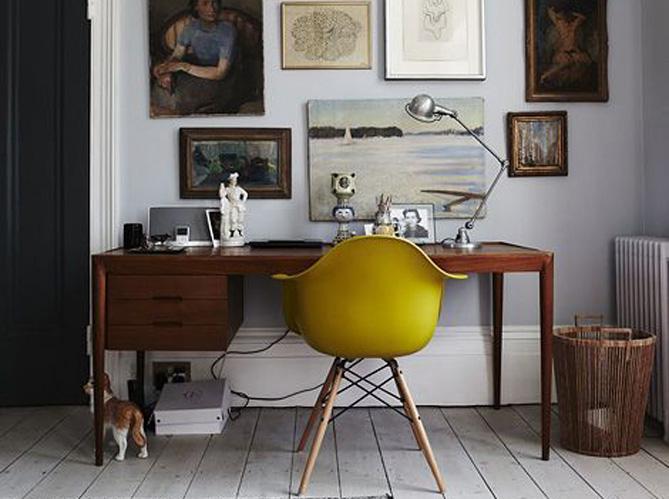 le jaune moutarde pimente notre int rieur elle d coration. Black Bedroom Furniture Sets. Home Design Ideas