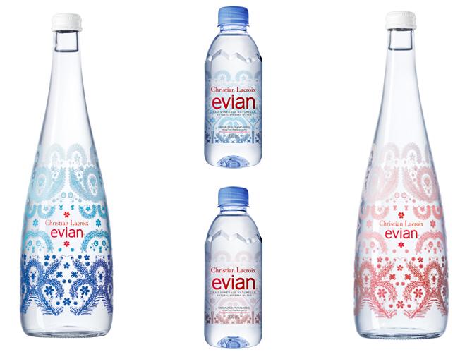 L objet du jour la nouvelle bouteille evian x christian lacroix elle d c - Evian christian lacroix ...