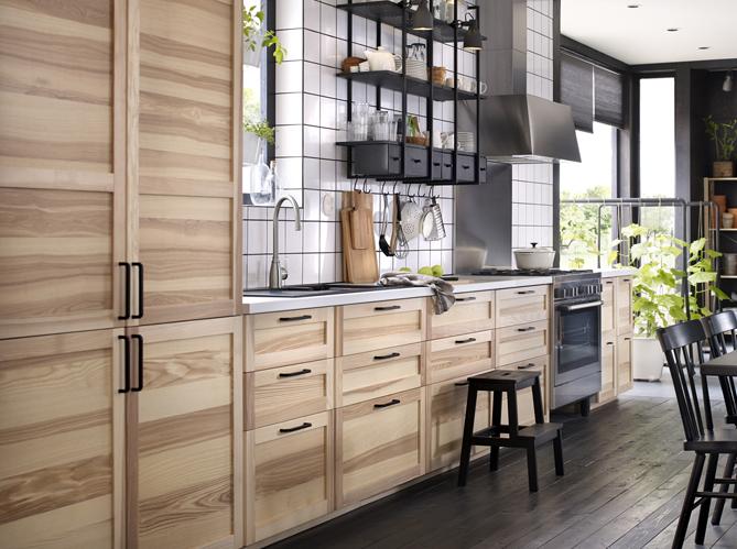 Alerte tendance du bois et rien que du bois chez moi ! Elle Décoration # Cuisine Bois Clair Ikea