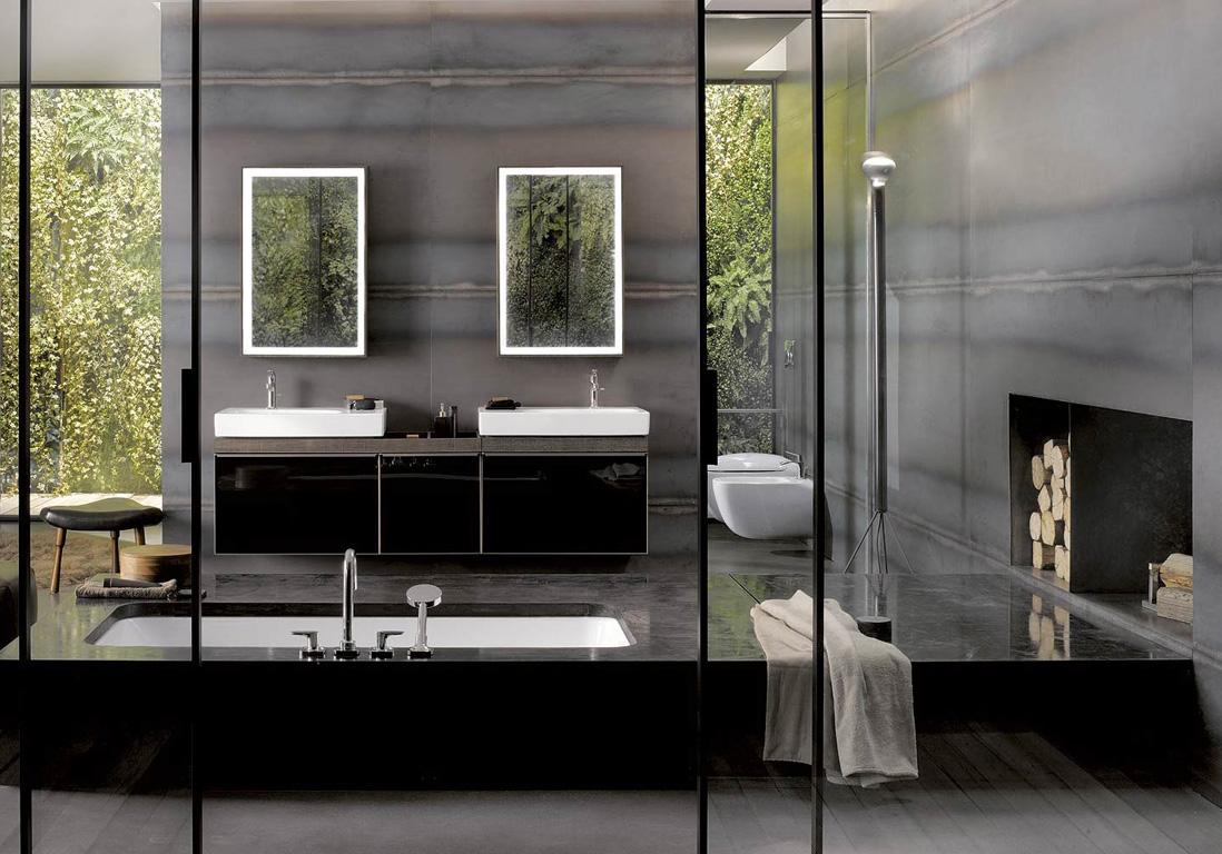 15 salles de bains grises pour trouver la v tre elle. Black Bedroom Furniture Sets. Home Design Ideas