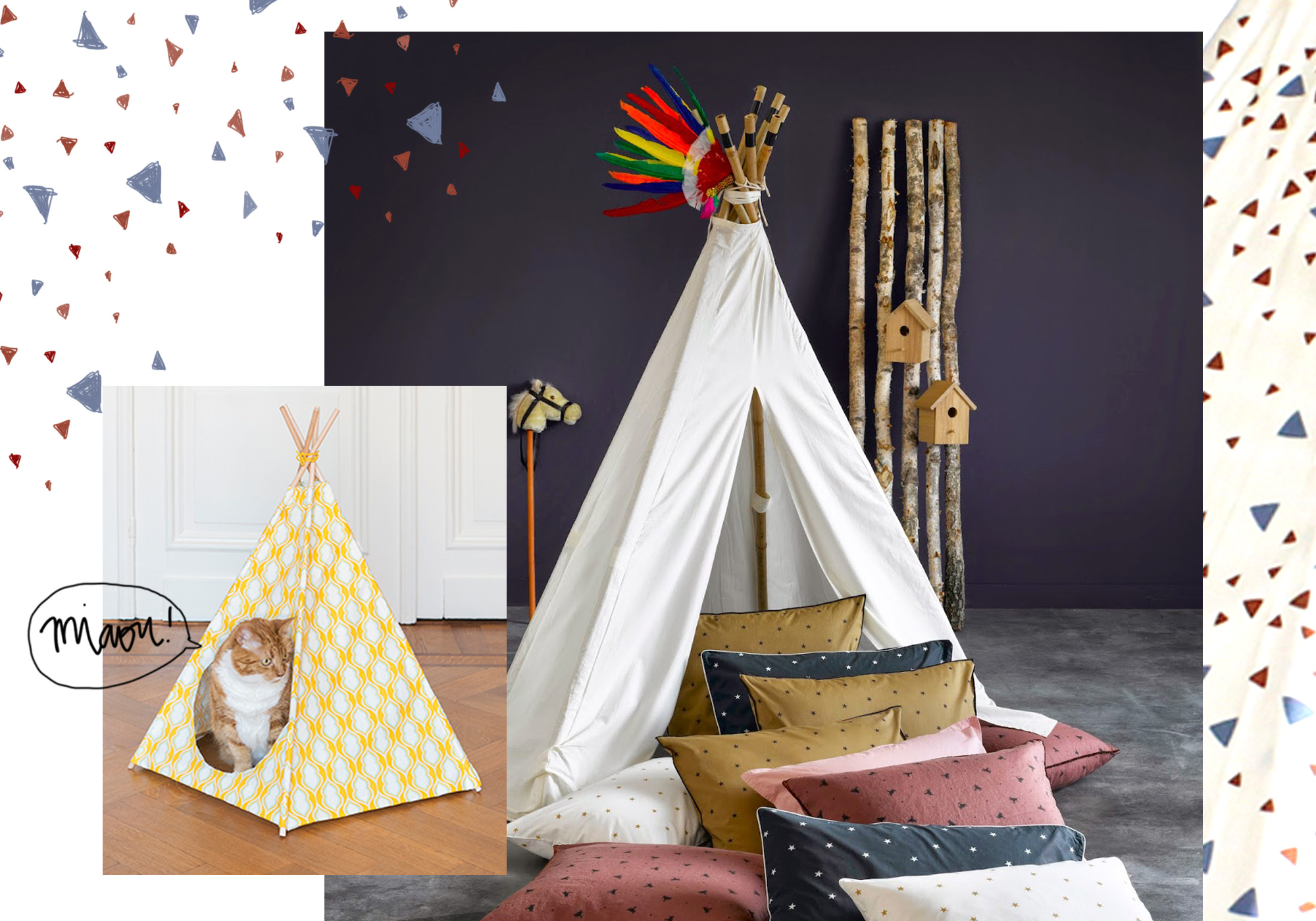 doit on vraiment succomber au tipi dans la maison elle d coration. Black Bedroom Furniture Sets. Home Design Ideas