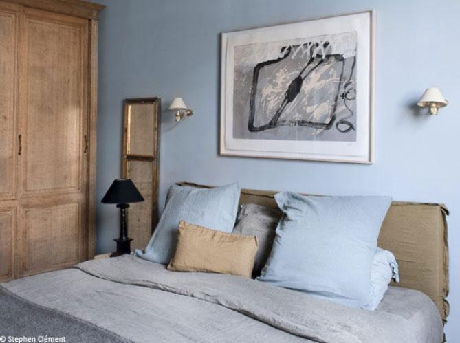 Beautiful Chambre Adulte Bleu Ciel Idees - Idées décoration ...