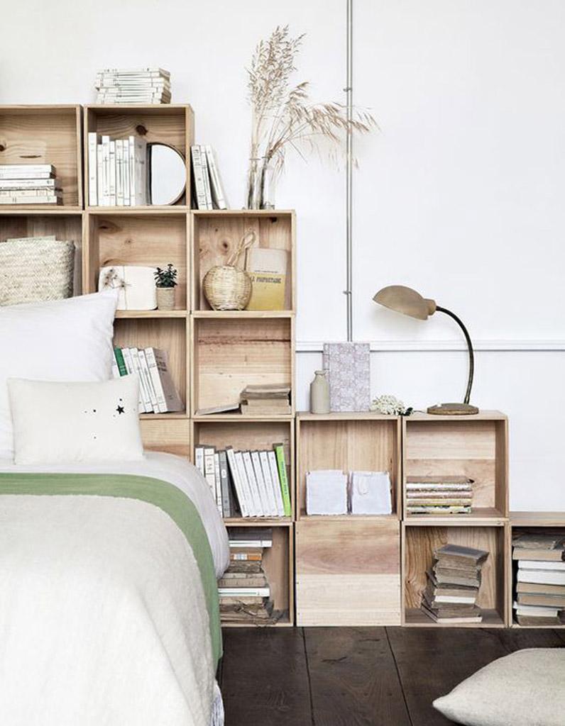 Tête de lit : 36 idées pour une tête de lit originale - Elle ... - Tete De Lit A Faire Soi Meme En Bois