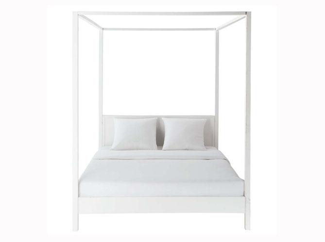 Lit Baldaquin Bois Ikea : ecran 14 un lit baldaquin en ch?ne et t?te en cuir lit alcova ?