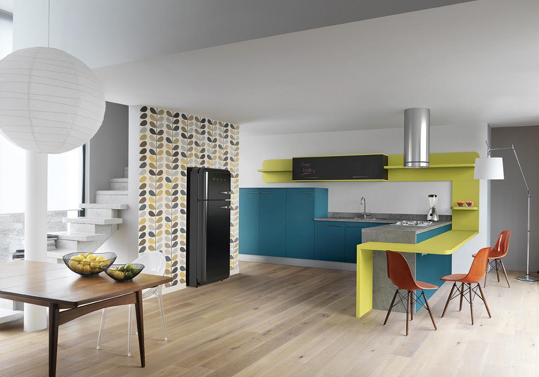 Cuisine color e d couvrez toutes nos inspirations elle for Cuisine bleu mat
