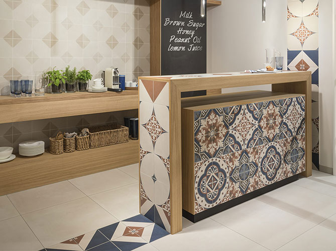 Le carrelage en cuisine elle d coration for Carrelage villeroy