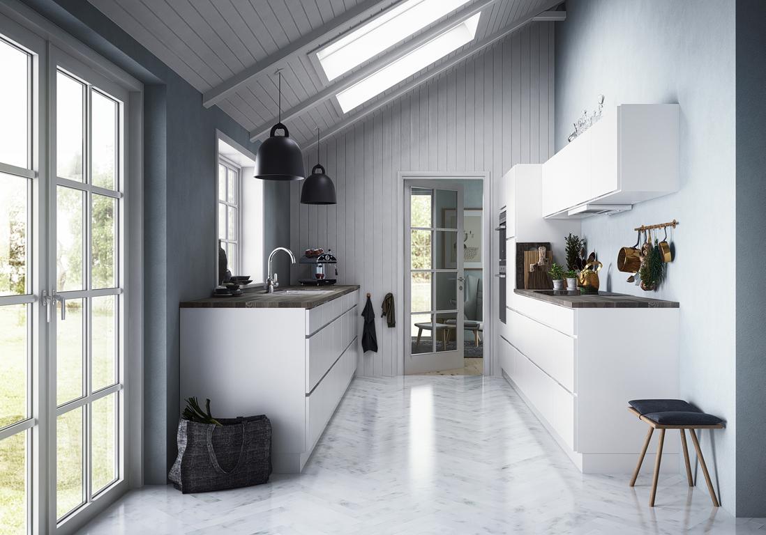 cuisine blanche d couvrez nos mod les coups de c ur elle d coration. Black Bedroom Furniture Sets. Home Design Ideas