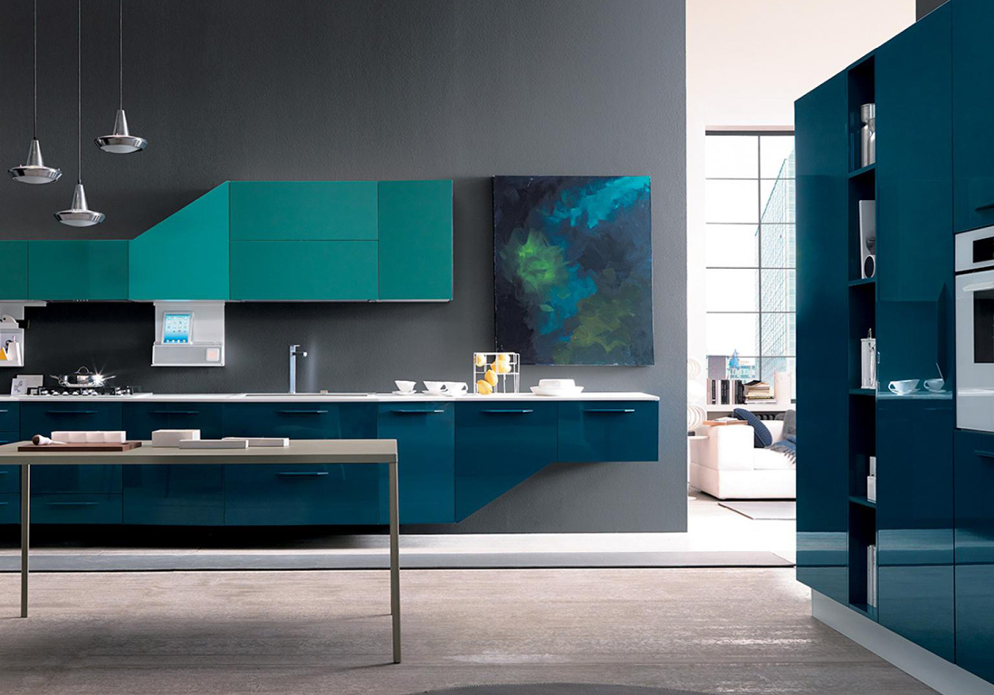Cuisine bleue d couvrez toutes nos inspirations elle for Deco de interiores