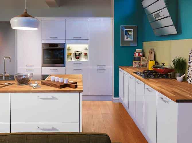 Je fonds pour une cuisine bleue elle d coration - Cuisine blanche et bleu ...