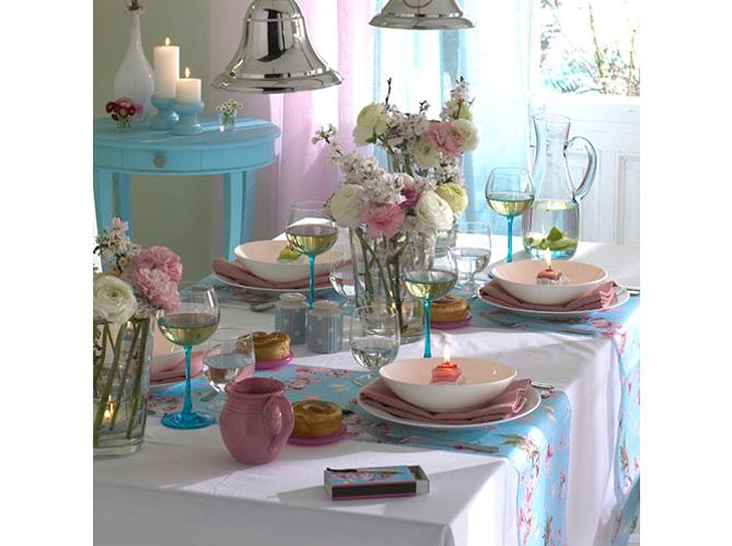 D co de table 50 id es pour l 39 t elle d coration for Deco cuisine girly