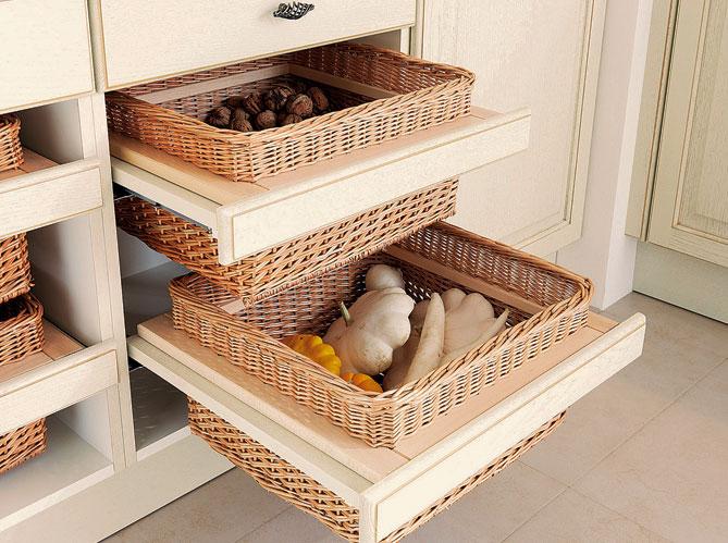 30 meubles de cuisine pour faire le plein de rangements - Panier osier rangement ikea ...