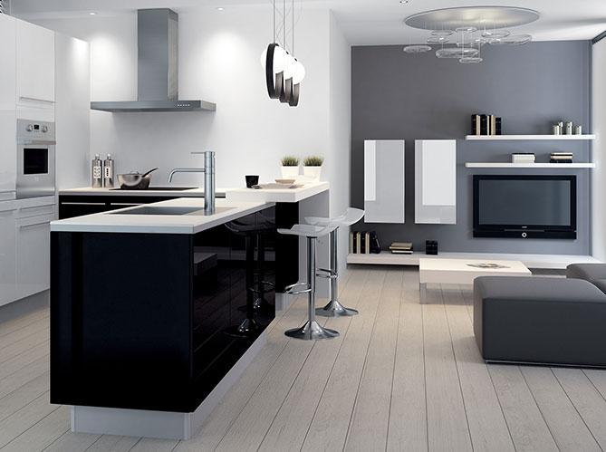 Mettez de la couleur en cuisine elle d coration for Cuisine couleur grise