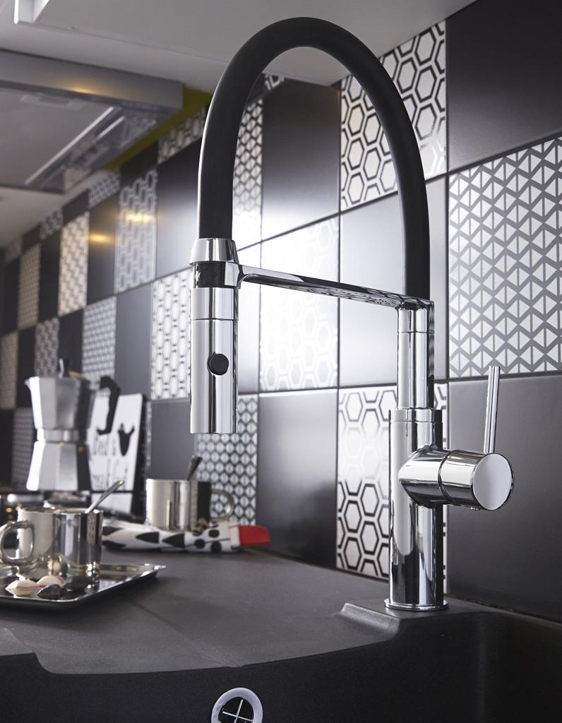 robinet de cuisine notre s lection de mitigeurs styl s elle d coration. Black Bedroom Furniture Sets. Home Design Ideas