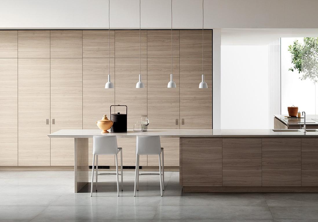 awesome une cuisine ouverte digne duun magazine with porte coulissante cuisine salon. Black Bedroom Furniture Sets. Home Design Ideas