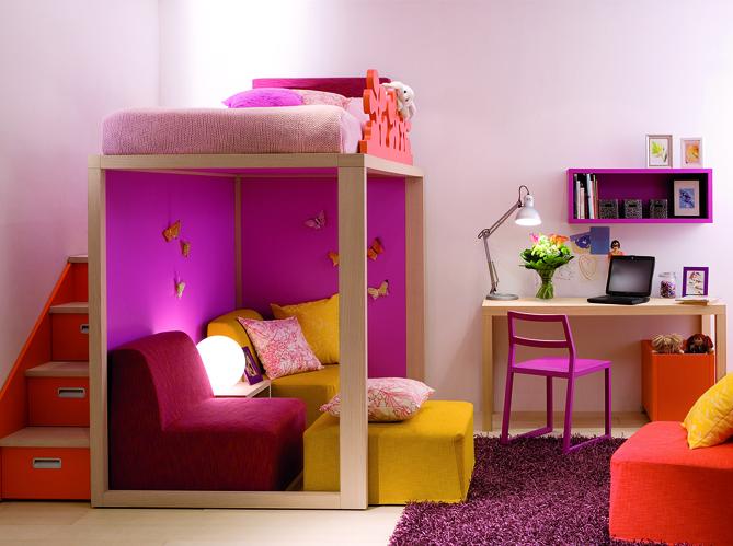 10 solutions pour am nager le dessous d un lit mezzanine - Chambre fille petit espace ...