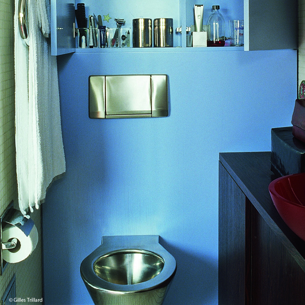 Petites surfaces grandes id es elle d coration for Amenagement de toilettes