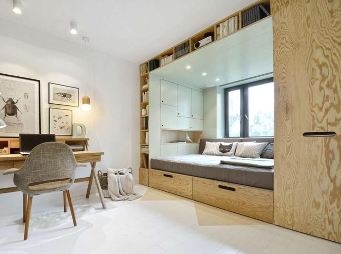 lit int gr gain de place 5 lits qui s 39 int grent astucieusement elle d coration. Black Bedroom Furniture Sets. Home Design Ideas