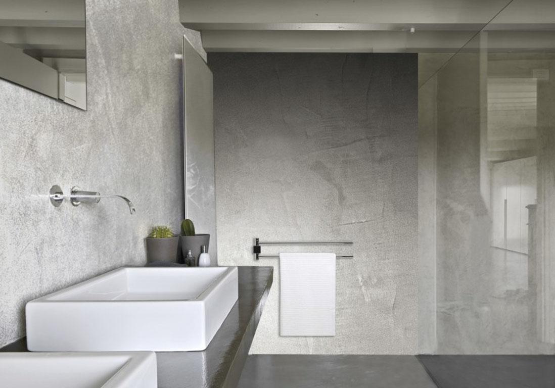 15 salles de bains grises pour trouver la v tre elle - Salle de bain verte et grise ...