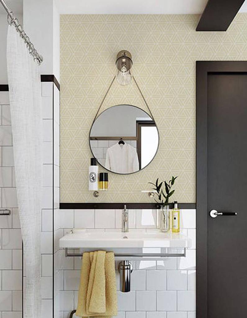 45 id es d co pour la salle de bains elle d coration - Papier peint salle de bain pas cher ...