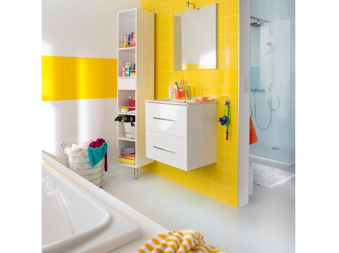 Adapter sa salle de bains aux enfants elle d coration - Accessoire salle de bain jaune ...