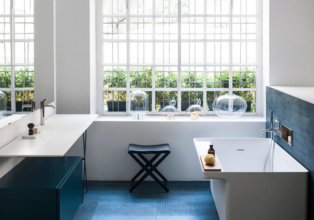 D couvrez les plus belles salles de bains bleues elle d coration - Elle deco salle de bain ...
