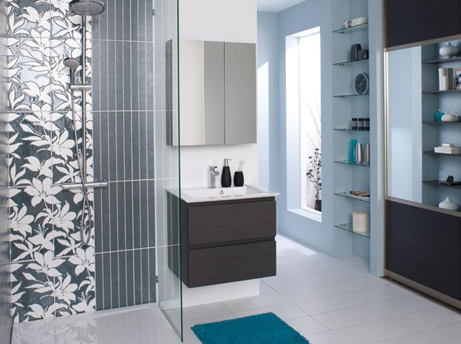 40 meubles pour une petite salle de bains elle d coration for Porte de meuble de salle de bain castorama