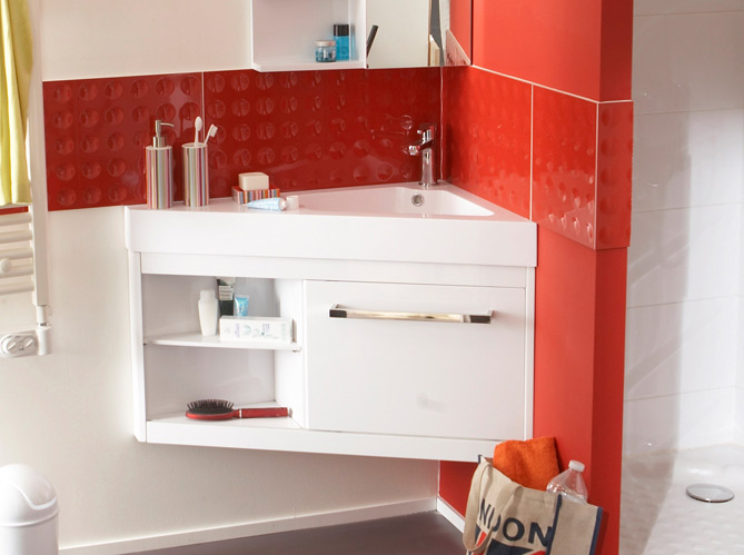 40 meubles pour une petite salle de bains elle d coration for Meuble salle de bain profondeur 40