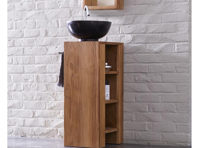 40 meubles pour une petite salle de bains elle d coration ForPetit Meuble Sous Vasque Salle De Bain