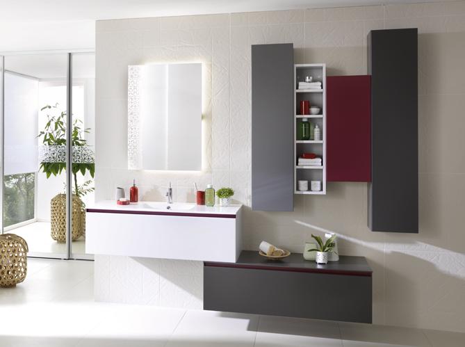 Salle de bains 50 armoires et colonnes pour tout ranger elle d coration - Leroy merlin armoire salle de bain ...