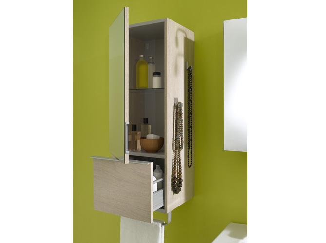 40 armoires de salle de bains elle d coration for Colonne de salle de bain jacob delafon