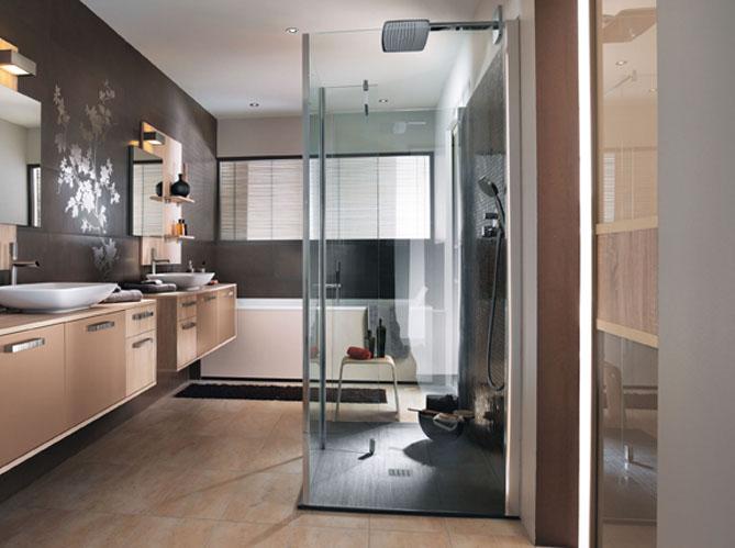 succombez la tendance des douches l italienne elle d coration. Black Bedroom Furniture Sets. Home Design Ideas