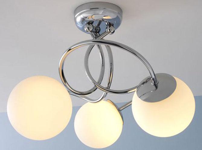 Plafonnier Salle De Bain Keria : Un plafonnier aux airs de bijou pour une salle de bains féminine