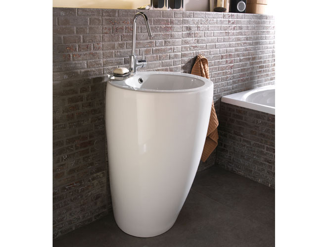 Salle de bains 12 lavabos contemporains elle d coration - Lavabo salle de bain castorama ...