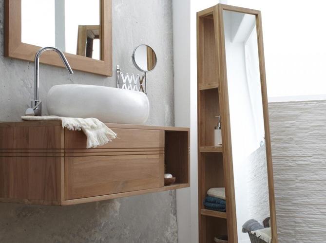 Rangement dans une petite salle de bain salle de bains - Rangement serviettes salle de bain ...